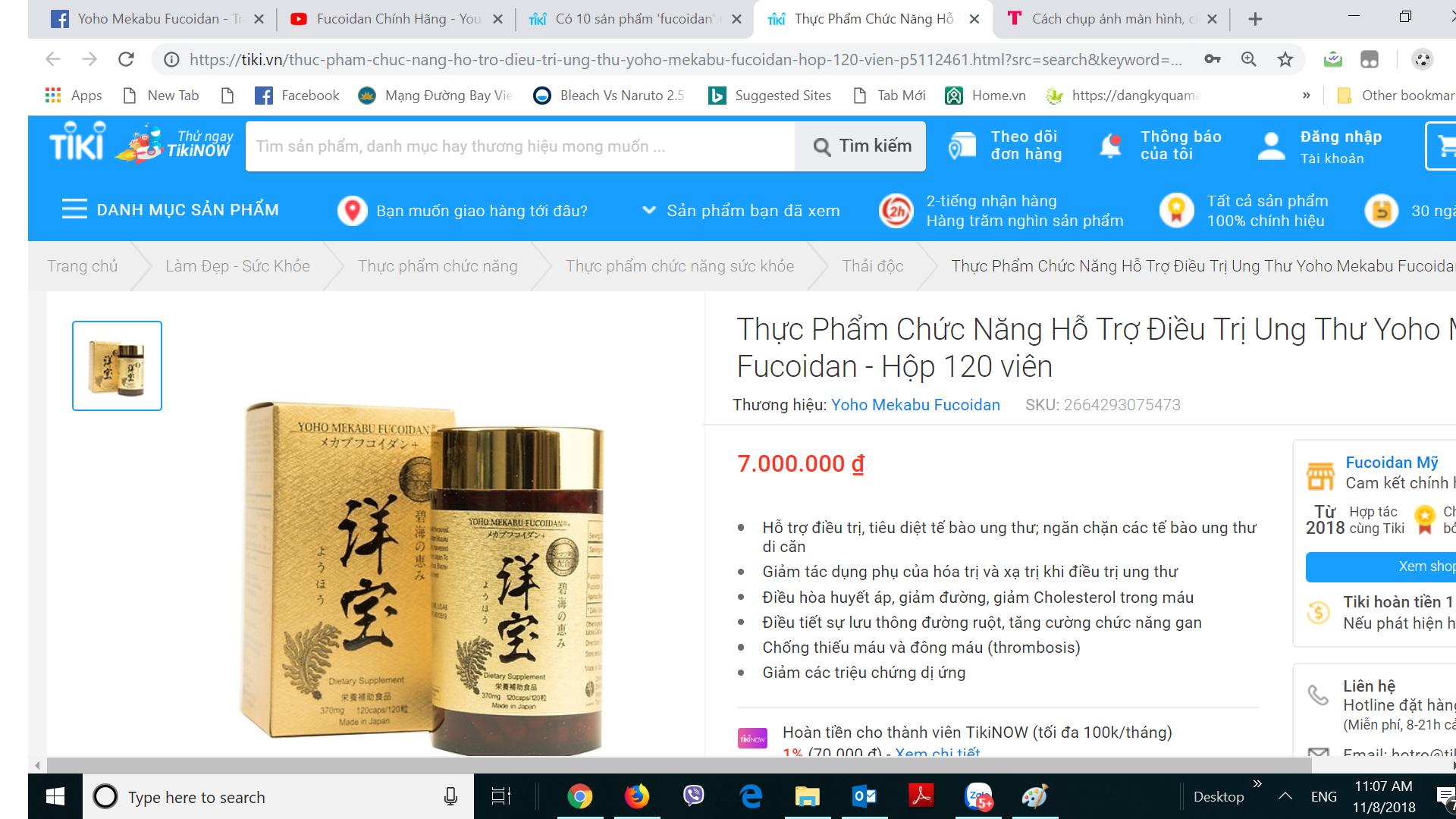 Mua Yoho Mekabu Fucoidan chính hãng trên tiki.vn