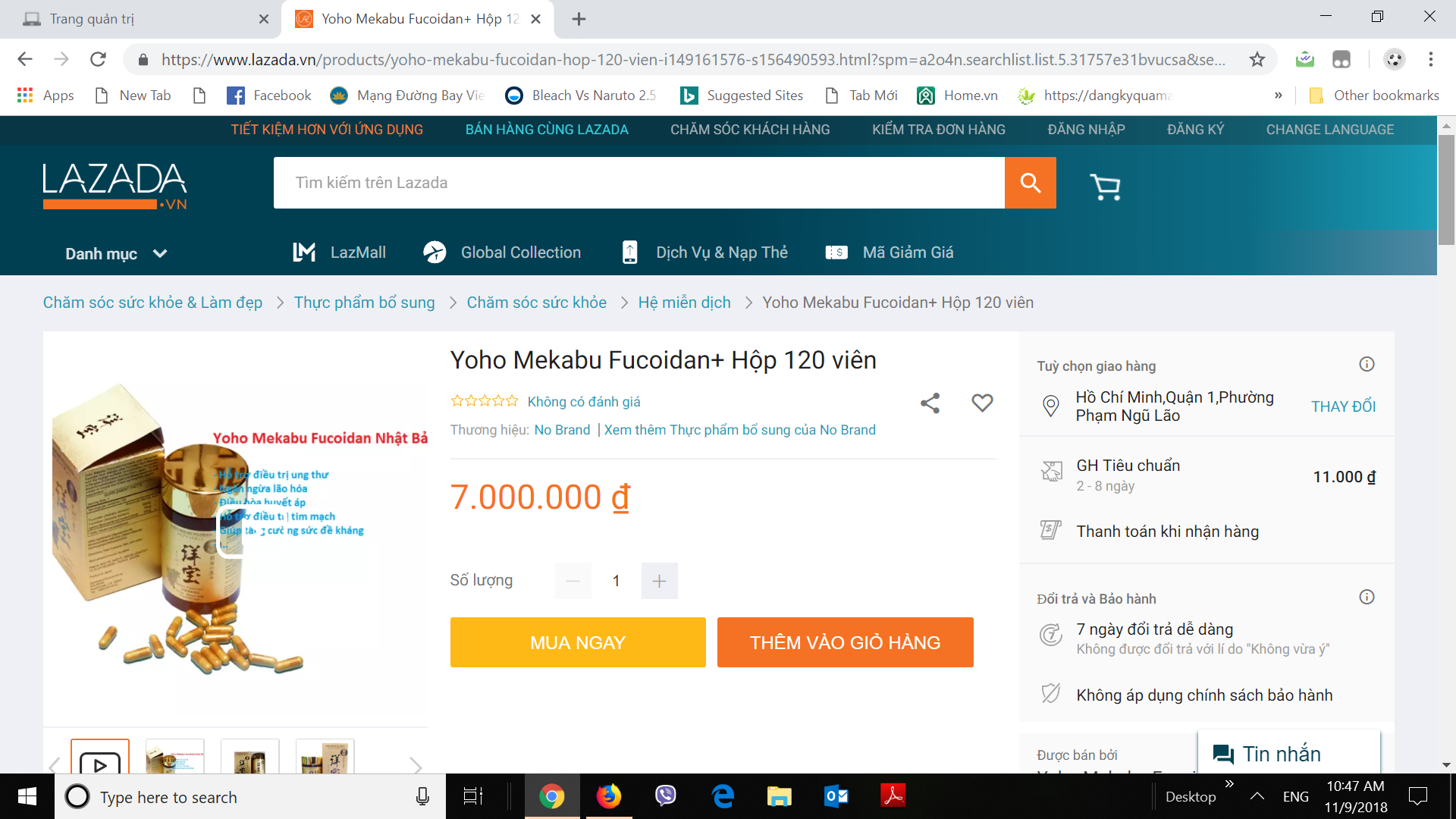 Mua Yoho Mekabu Fucoidan chính hãng trên Lazada.vn